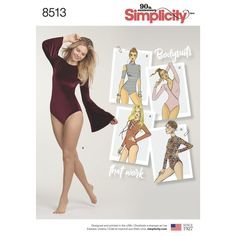 f92a83ea77 Simplicity 8513 Misses Knit Bodysuits Sewing Pattern Sz 6-24 for sale  online | eBay