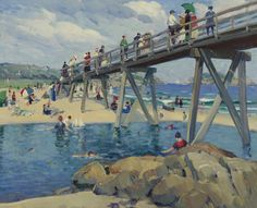 """""""Good Harbor Beach, Gloucester,"""" Leon Kroll, 1912, oil on canvas, 26 x 32"""", private collection."""