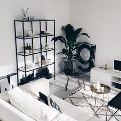 inspiracje w moim mieszkaniu: Salon w kolorze black&white
