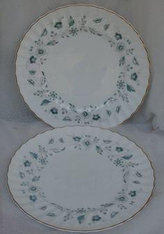 2 Royal Doulton Waverly  10 5/8 inch Dinner Plates Vintage English Bone China