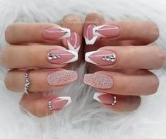 Diva Nails diva nails near me Cute Acrylic Nails, Acrylic Nail Designs, Cute Nails, Gel Nails, Coffin Nails, Elegant Nail Designs, Elegant Nails, Stylish Nails, Rose Gold Nails