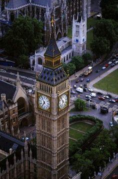 Big Ben, la torre del reloj del Palacio de Westminster, Londres