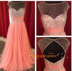 Buy Sexy Scoop Open Back Tulle Sequins Long prom Dresses CHED-90032 Prom Dresses 2016 under $158.00 only in Dressywomen.