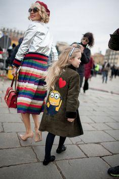 Milan Fashion Week street style | #MFW #Minion [Photo: Kuba Dabrowski]
