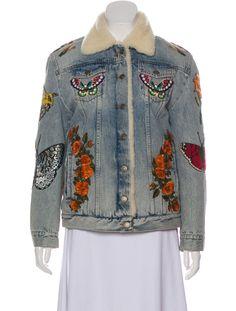 1e1c6d75 Gucci 2018 Denim Shearling Jacket - Clothing - GUC296061   The RealReal