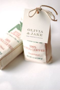 kona coffee favors #beach #wedding
