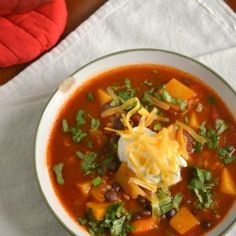 Butternut Squash and Black Bean Taco Soup   Food Doodles