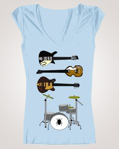Beatles.. Instruments used on the Ed Sullivan Show of 1964.