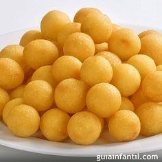 Bolitas de patata con queso. Recetas divertidas para niños