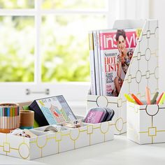 Monday organization on point with Printed Desk Accessories