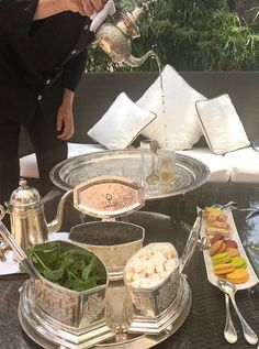Travel Inspiration for Morocco - Afternoon Tea at the very luxurious La Mamounia in Marrakech