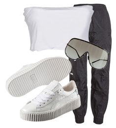 """""""Untitled #37"""" by nelah-boo ❤ liked on Polyvore featuring Vetements, Twin-Set, Puma and Rick Owens"""