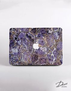 Hard Purple Marble Macbook Case Design for MacBook Pro Retina Display, MacBook Pro NON Retina Display  and MacBook Air Case by DessiDesigns on Etsy