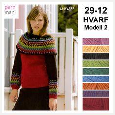 29-12 HVARF Modell 2, genser - Garnmani.no - Spesialist på islandsk ull Ravelry, Turtle Neck, Spring, Sweaters, Black, Fashion, Scale Model, Moda, Black People