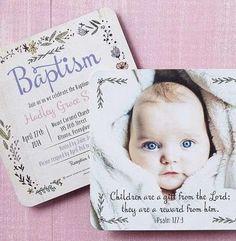 Invitaciones bautizo: fotos ideas para imprimir - Invitación con forma de bebé