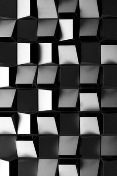 Pattern of squares giving texture by being placed at different angles from surface. Detail Architecture, Art And Architecture, Windows Architecture, Facade Pattern, Architectural Pattern, Decoration Photo, Diy Décoration, Easy Diy, Diy Crafts