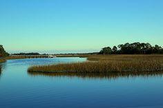 Salt Marsh and Calm Water by Rosanne Jordan Water Artists, Salt Marsh, South Carolina, Landscapes, Wildlife, Scene, Calm, Island, Wall Art
