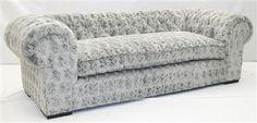 4 Grey fox faux fur sofa. Crazy fun and comfortable.