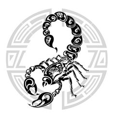 Astrological Signs by Month | Zodiac wheel with sign scorpio vector art - Download Scorpio vectors