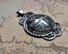 silver compass pendant, Georgina Taylor