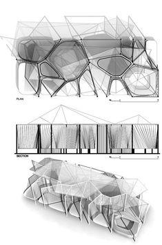 """Résultat de recherche d'images pour """"a temporary pavilion voronoi"""""""