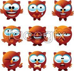 Cute OWL face vector