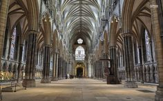 amazing architecture - The nave of the Lincoln Cathedral, England British Architecture, Gothic Architecture, Amazing Architecture, Lincoln Cathedral, Gothic Cathedral, Interesting Buildings, Peak District, Italy Travel, England