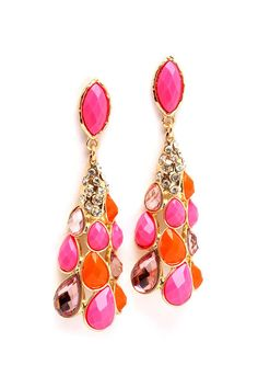Sorbet Teardrop Earrings   Awesome Selection of Chic Fashion Jewelry   Emma Stine Limited