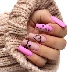 Best Acrylic Nails, Acrylic Nail Designs, Nail Art Designs, Nails Design, Heart Nail Designs, Nail Art Cute, Pink Nail Art, Pretty Nail Art, Beautiful Nail Art