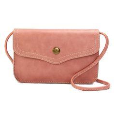 Women Hasp Mini Shoulder Bags PU Leather Phone Bags Case Crossbody Bags