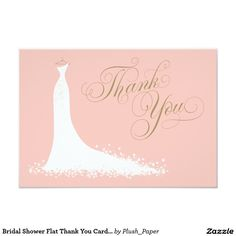 Bridal Shower Flat Thank You Cards | Wedding Gown