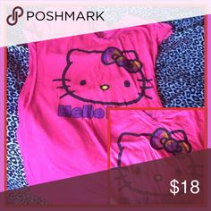Hello kitty junior shirt Hot pink like new  this is a size large in juniors Hello Kitty Tops Tees - Short Sleeve