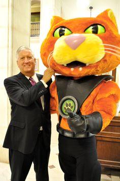 #Caddie posing with Mayor Jerry Jennings of #Albany, NY