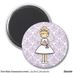 Shop First Holy Communion sweet girl fridge magnet created by Avril_Storybooks. Homemade 3d Printer, Books For Boys, First Holy Communion, Puzzle Pieces, Sweet Girls, Book Activities, Stone Painting, Little Gifts, Holi