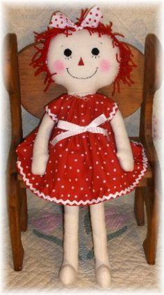 *RAGGEDY ASHLYNN ANNIE ~  Large-raggedy,raggedy ann,raggedy     annie,primitive,doll,prim,annies,raggedies,handmade,homemade,rag doll