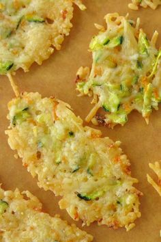 10 Day Diet Cycle 1 Beginner's Board: Parmesan Crisps Baked with Zucchini and Carrots