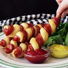 WARNING: This twist on a hot dog will blow you away! Check out this genius hot dog recipe is perfect for dipping!lWARNING: This twist on a hot dog will blow you away! Check out this genius hot dog recipe is perfect for dipping! Appetizer Recipes, Snack Recipes, Cooking Recipes, Dessert Recipes, Easy Recipes, Cheese Appetizers, Appetizer Ideas, Party Appetizers, Potato Recipes