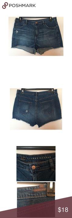 "Lauren Conrad Jean Shorts Excellent condition.  Inseam: 2.5"" LC Lauren Conrad Shorts Jean Shorts"