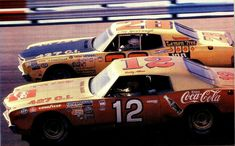 Bobby Allison #12 and Cale Yarborough #28 in 1972