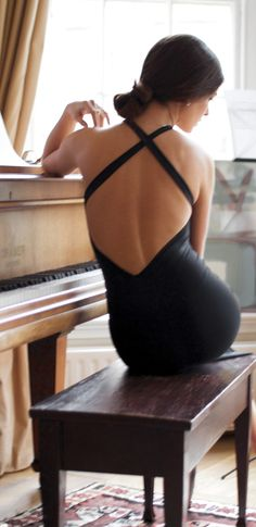 Backless chic.