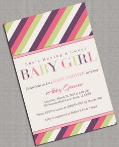 Baby Girl Shower Invitations Printable