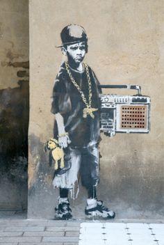 Banksy - Dalston Art Print