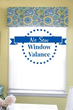 No Sew Window Valance from Marty's Musings ... Easy basic structure for my bathroom, toilet & kitchen windows, but I'll add batting & calico beneath some of the fabrics, as plain fabric on ply will look cheap.