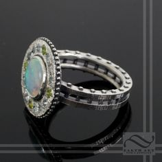 Norse Opal Compass Ring by mooredesign13 on Etsy, $450.00