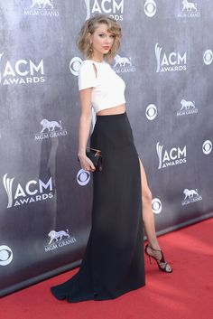 Taylor Swift Bares Midriff at the ACMs: Taylor Swift skipped the princess gown and went for a glamorous ensemble by J.
