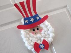 Uncle Sam Paper Plate- fun door or wall decoration!