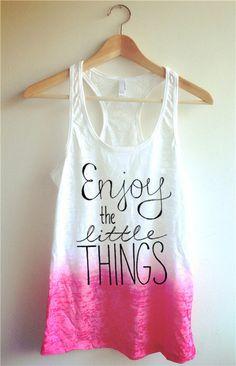 Enjoy the Little Things Tie Dye Tank Top