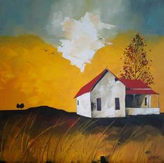 'Abandoned farmhouse' Acrylic on canvas by Glendine