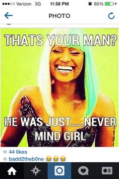 """Your """"man"""" be hittin me up Hun 😂 Sarcasm Quotes, Funny True Quotes, Bitch Quotes, Sassy Quotes, Badass Quotes, Real Quotes, Mood Quotes, Funny Memes, Jokes"""