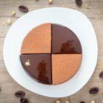 Entremets chocolat, tonka, praliné